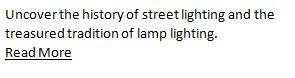 traditional street lighting history